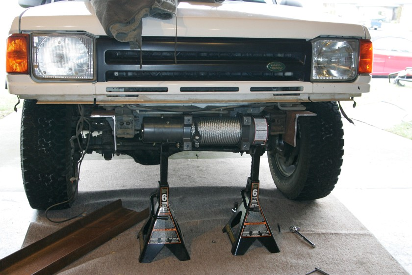 My Home Built Disco Winch Plate Land Rover Forums
